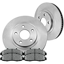 FRONT 260 mm Premium OE 5 Lug [2] Brake Disc Rotors + [4] Metallic Brake Pads