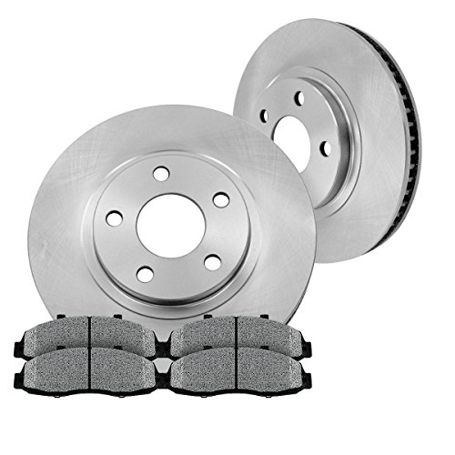 FRONT 277 mm Premium OE 5 Lug [2] Brake Disc Rotors + [4] Metallic Brake Pads
