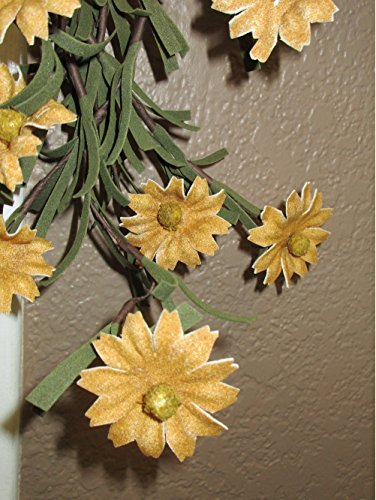 Rustic Country Primitive Tea Stained Daisy Garland Farmhouse Floral Decor by Unknown (Image #2)