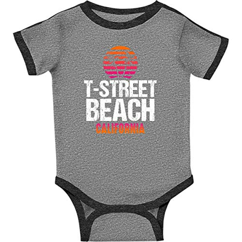 inktastic - Sunset T Infant Creeper 12 Months Ringer Heather and Smoke 3052f