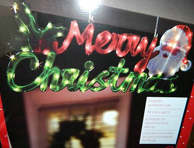 large lighted hanging merry christmas sign light yard decoration 44