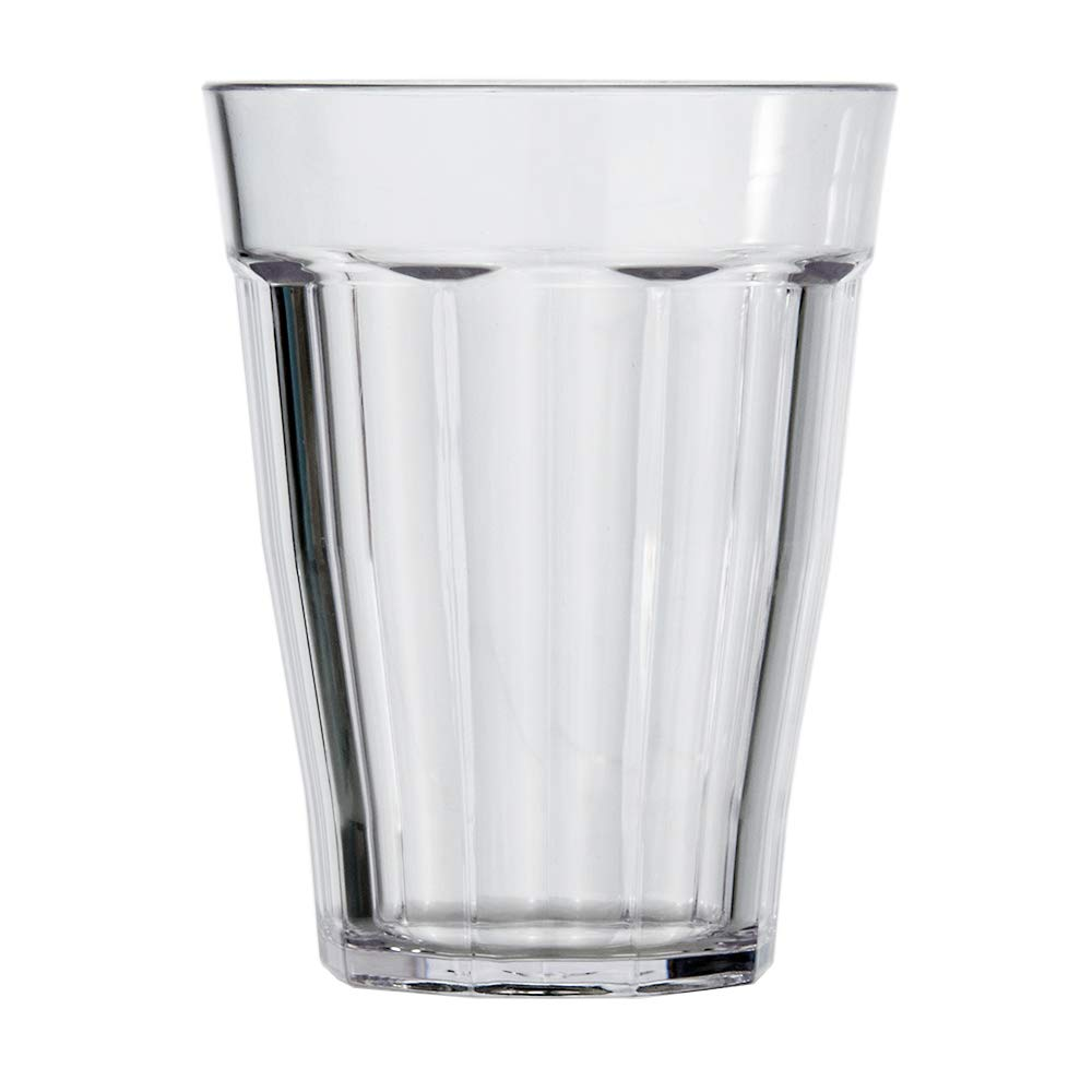 Rhapsody 12-ounce Faceted Plastic Rocks Tumblers | set of 8 Clear