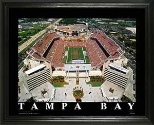 Tampa Bay Buccaneers - Raymond James Stadium Aerial - Lg - Framed Poster Print
