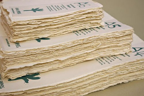 Khadi Paper from India- 4x6 Inch 140lb. (320gsm) Pack of 20 Sheets