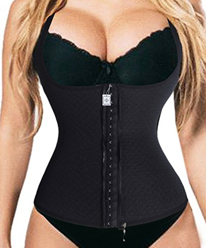 Plus Size Vrst with Zipper Waist Trainer Vest Fitness Body Shaper For Hourglass