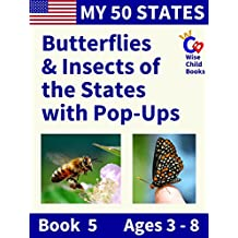 My 50 States - Book 5: Butterflies & Insects of the States with Pop-Ups
