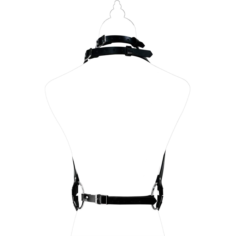 Homelex Damen Punk Leder Bra Harness K/örper BH Strappy Cage Lingerie