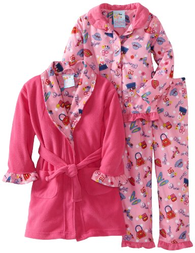 Baby Bunz Little Girls'  Girl Purses And Shoes 3 Piece  Pajama Set