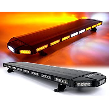 Amazon 72 led light bar emergency beacon warn tow truck plow xprite black hawk 48 professional amber 88 led extreme high intensity low profile roof top aloadofball Gallery