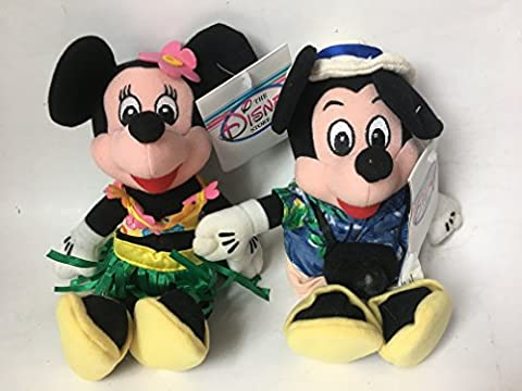 Disney Bean Bag Plush Mickey Mouse and Minnie Mouse Dressed As Tourist - Bean Bag Plush Minnie Mouse