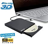 Ultra Slim External 4K UHD HD 3D Blu-ray Disc
