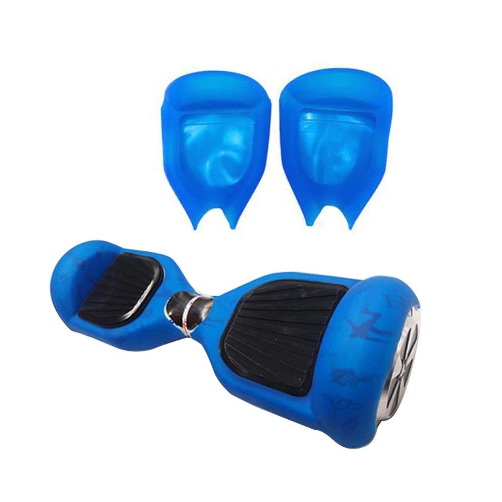 QUMAO 360° Protector Funda 2 Ruedas 6.5 Pulgadas Cubierta Carcasa de Silicona para Smart Scooter Balance Patinete Electrico Dos Ruedas - Azul
