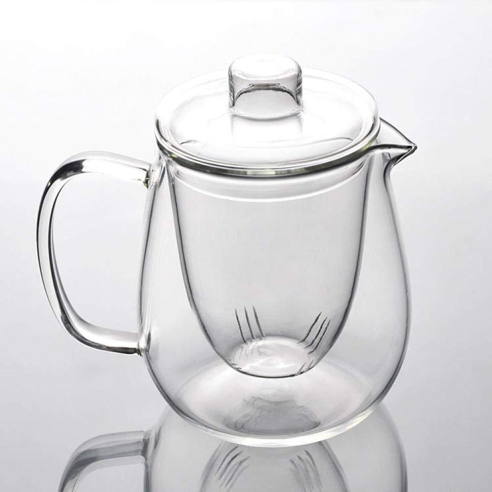 POTOLL Teiera con Filtro Set teiera del tè del Fiore del teiera del Filtro da tè bollito Resistente al Calore della teiera di Vetro Prezzi