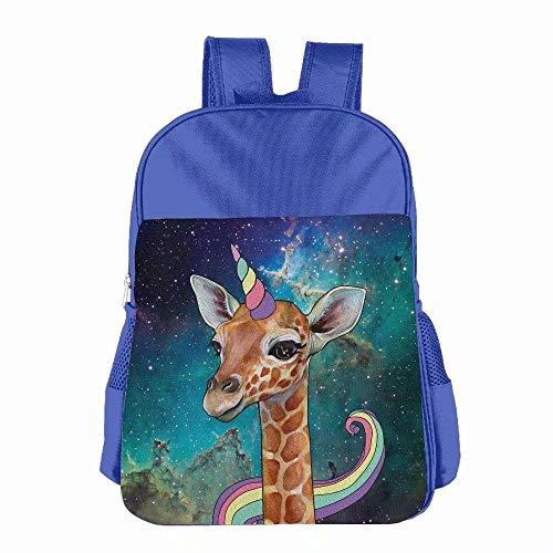 (Unicorn Horn And Giraffe Student Backpack School Bag Print Backpack For School Shoulder Daypack Handbag)