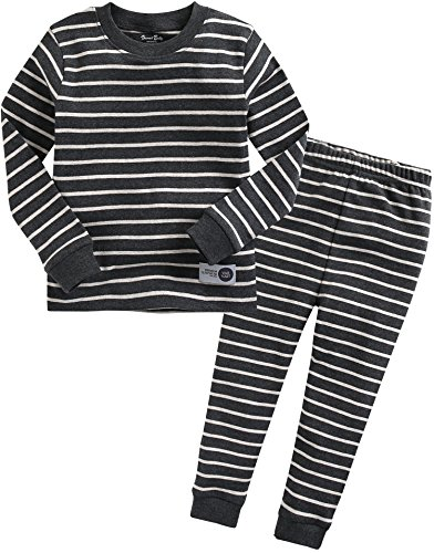 Vaenait baby Kids Boys Sleepwear Pajama 2pcs Set Color Pen Chacoal XL