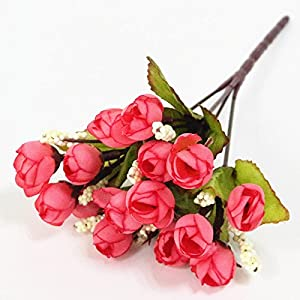 FYYDNZA Silk Flowers Artificial Flower Mini Rose Simulation Rose Home Decor For Wedding Party Small Roses Bouquet Decorative 13
