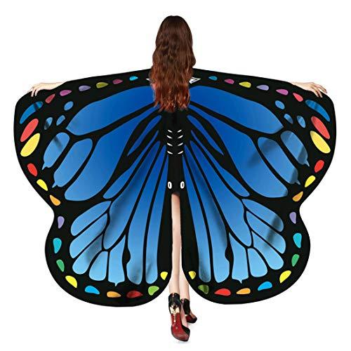 Women Butterfly Wings Cape Fairy Dancing Cotumes Halloween Festival wear -