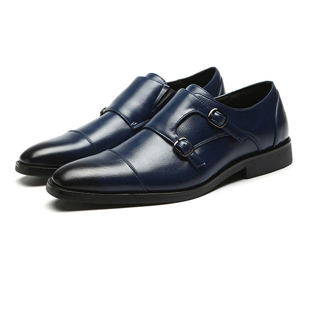 Mens Oxford Shoes Pointed Toe Solid Color Wear-Resistant Business Formal Shoes