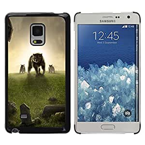Be Good Phone Accessory // Dura Cáscara cubierta Protectora Caso Carcasa Funda de Protección para Samsung Galaxy Mega 5.8 9150 9152 // Bear Meadow Grass Sunset Fantasy
