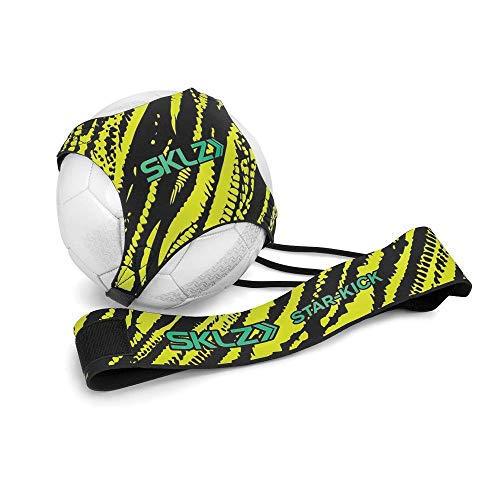 (SKLZ Star-Kick Neon - Hands Free Solo Soccer Trainer- Fits Ball Size 3, 4, and 5 (Renewed))