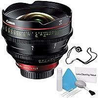 Canon CN-E 14mm T3.1 L F Cinema Prime Lens (EF Mount) (International Model no Warranty) + Deluxe Cleaning Kit + Lens Cap Keeper 6AVE Bundle 2