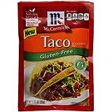 McCormick Gluten Free Taco Mix, Mexican Seasoning, 1.25 oz (Case of 12)