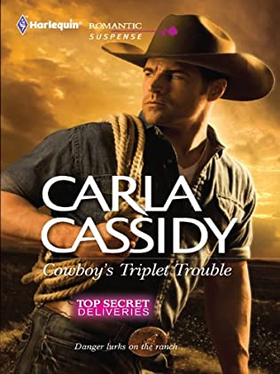 book cover of Cowboy\'s Triplet Trouble