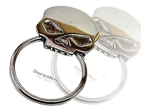 per motociclisti teschio motivo Spilla con anello portaocchiali