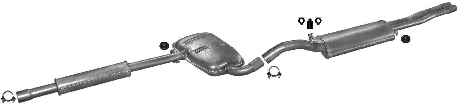 ETS-EXHAUST 5318 El sistema de silenciadores (pour TOLEDO 2.0 LIFTBACK 116/150hp 1991-1998) ETS-sistema de escape