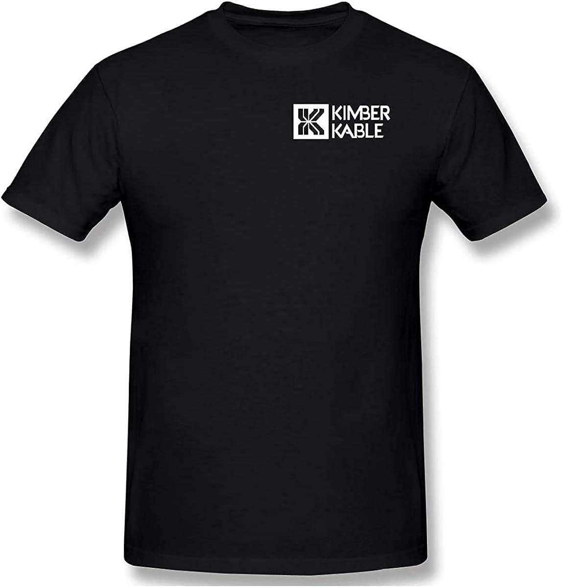 Kimber White Logo T Shirt 2nd Amendment Pro Gun Rights Pistol tee Black