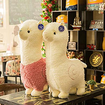 Purple 18 Spring Country Alpaca Plush Toy Llama Stuffed Animal Large 18 Doll Plushie Hug Pillow Soft Fluffy Cushion Super Kawaii Gift for Birthday Girls and Lovers Washable
