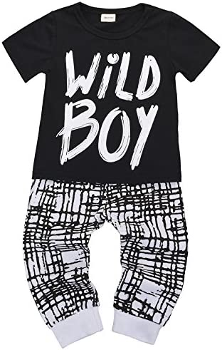 Mysticline Baby Boys Clothes Set Short Sleeve Wild Boy T-Shirt Pants Outfit Summer Spring