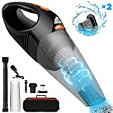 Handheld Cordless Vacuum Cleaner Upgraded 6500PA Strong Suction Wet & Dry Use Portable Rechargeable Car Vacuum Cleaners for Home and Office Cleaning by Fujiway