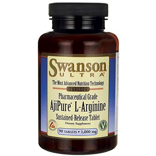 Swanson Amino Acid Ajipure L-Arginine Sustained-Release Tablet 1000 Milligrams 90 - Sustained L-arginine Release