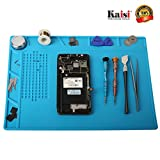 Heat Insulation Silicone Mat Repair Kit, Heat Resistant Maintenance Desk Mat, for Soldering Iron, Phone and Computer Repair, Can be Folded and Easy to Carry by Kaisi S-130