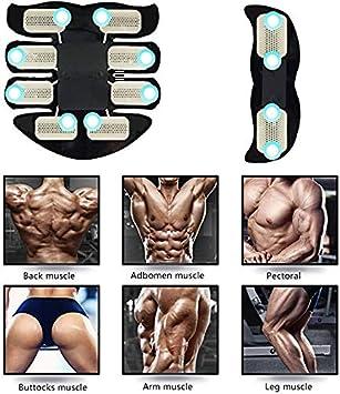 IVYSHION 30Pcs EMS Gel Pad pour Ceinture de Abdominale Feuille Gel de Rechange de Formateur EMS /Électrodes Remplacement de Gel EMS Gel Pad pour Electrostimulateur Musculaire Appareil ABS