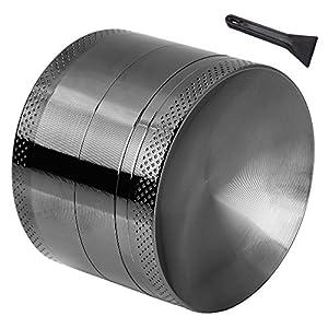 Anpro Macinaspezie Manuale - Macinapepe Smerigliatrice in Alluminio con setaccio e Piano Magnetico per Erba secca e… 10