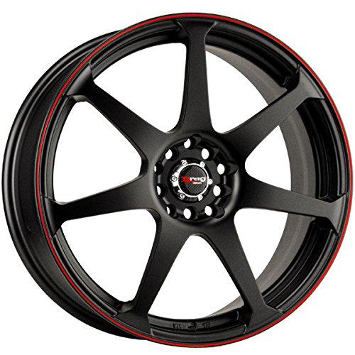 Drag Wheels DR-33 18x7.5/ 5x100/ 5x114.3 Flat Black w/Red Stripe Rims Drag Dr 33 Wheels