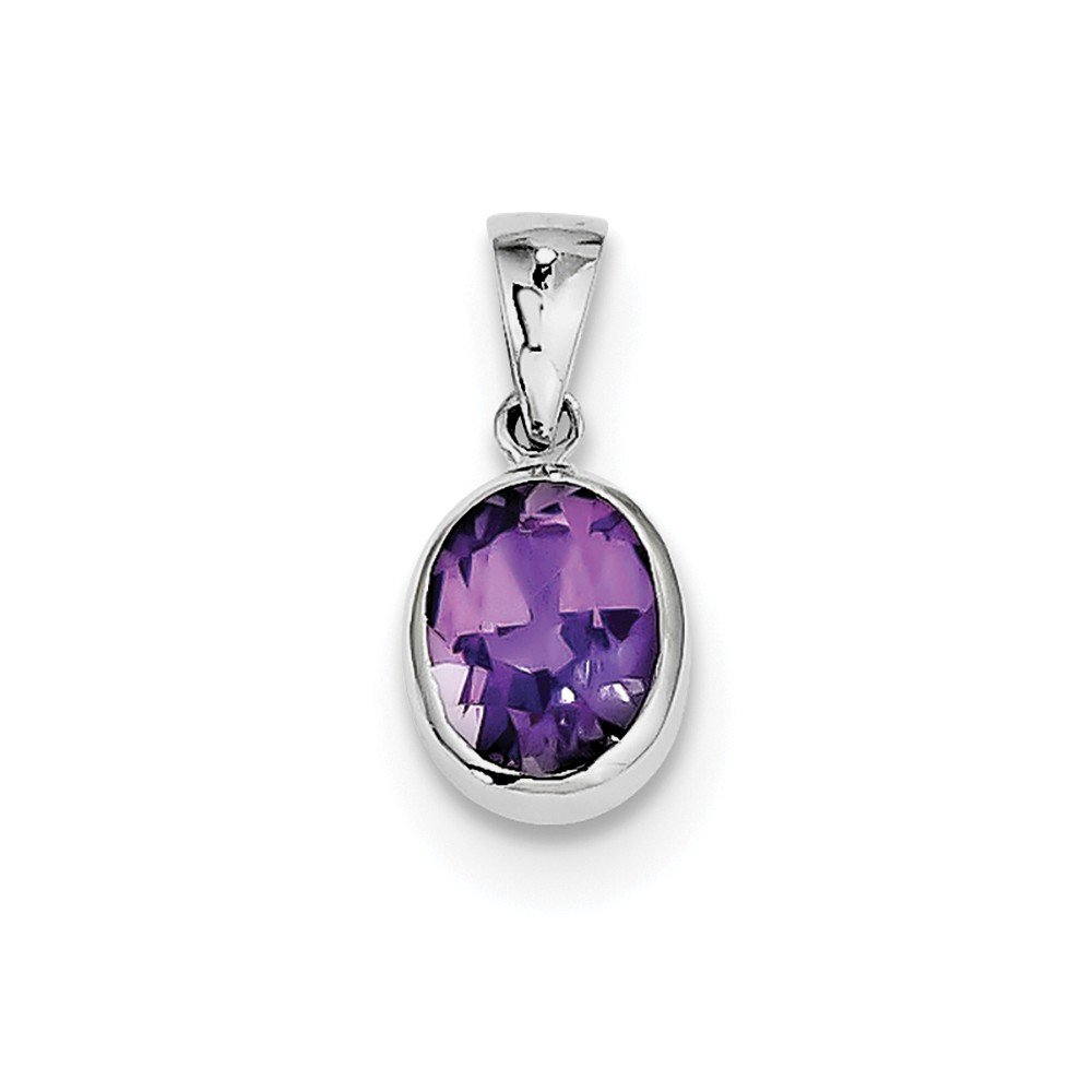 Jewelry Brothers charms Best Birthday Gift Sterling Silver Rhodium Amethyst Pendant