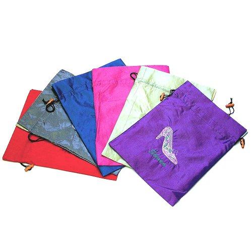 Silk Satin Shoe Underwear Storage Bag Sbag 6 Packs