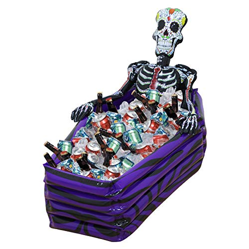Giant Skull Inflatable Skeleton Cooler,Drink Ice Bucket,Party Supply Cooler,Halloween Decoration Toys,Outdoor Pool Accessory,40 inch,1-Pack]()