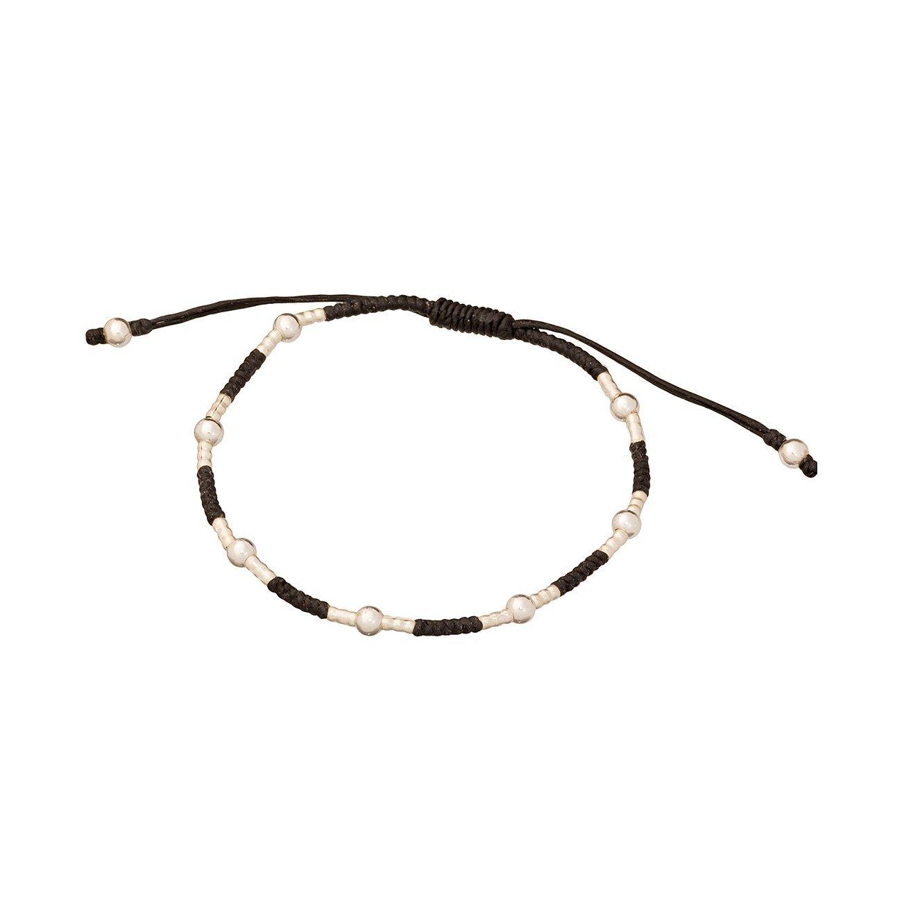 Simple Bracelet Adjustable Dark Blue Waxed Cord Friendship Unisex Bracelet or Anklet