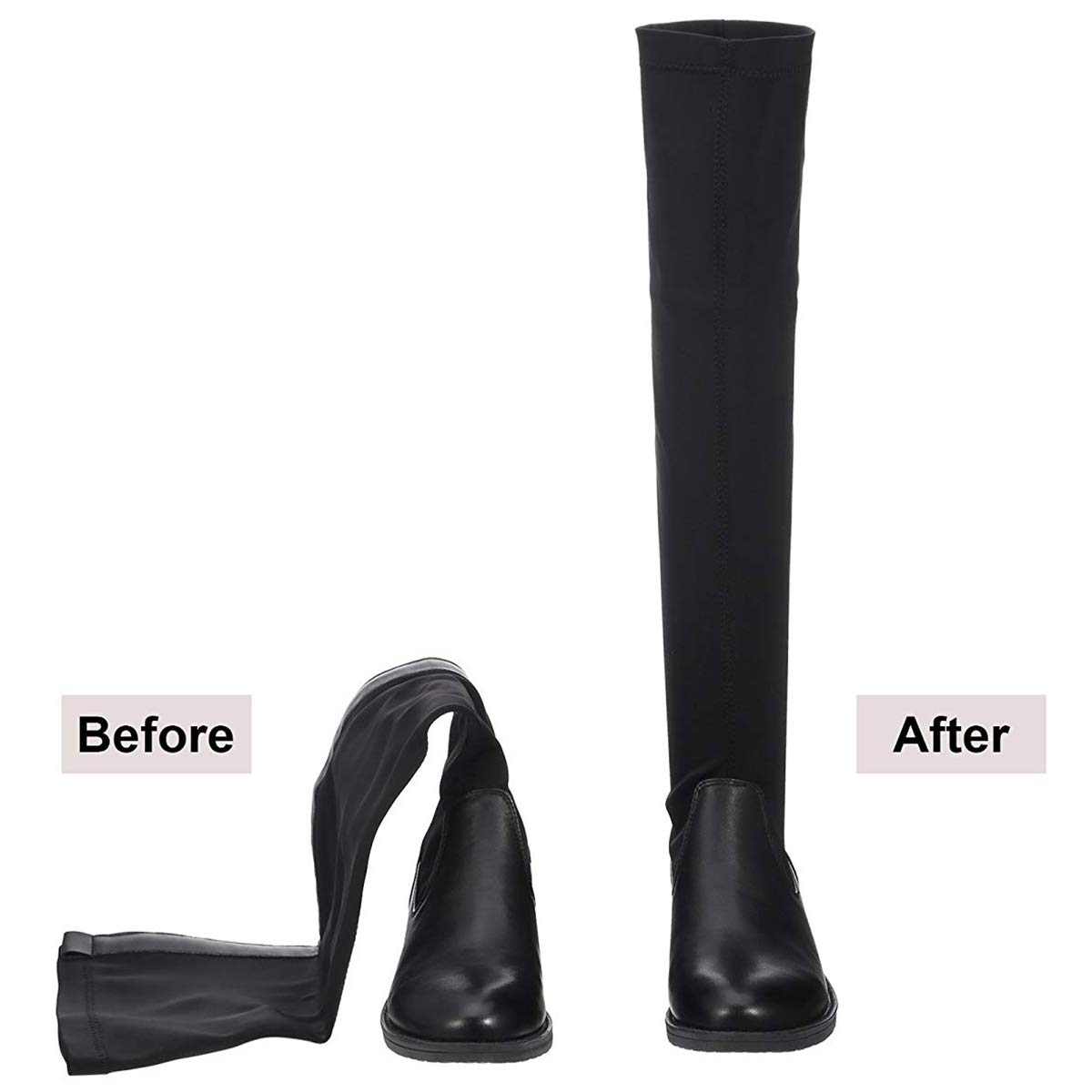 8 Pieces For 4 Pairs Of Boots TOOGOO Boot Shaper Form Inserts Tall Boot Support For Women And Men 12 Inch, 14 Inch And 16 Inch, Black