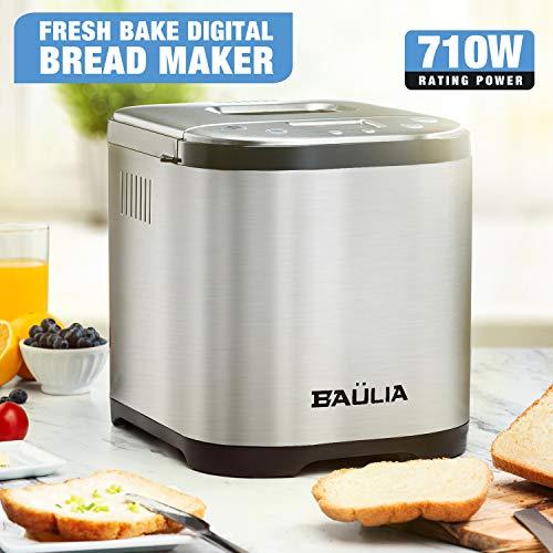 Baulia BM822 Automatic Bread Maker Machine, Gluten/Sugar-Free Functions 15 Programmable Bread Types Settings by Baulia (Image #4)