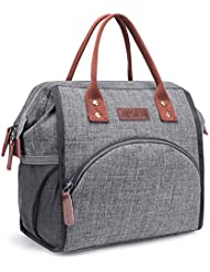 24dce85e278c LOKASS Lunch Bag Insulated Lunch Box Wide-Open Lunch Tote Bag Large Drinks  Holder Durable