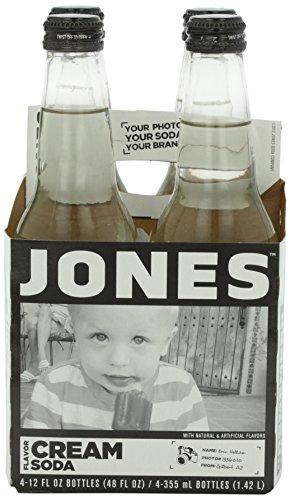 Jones Soda, Cream Soda, 4pk, 12 oz