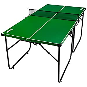 Franklin Sports Mid Size Table Tennis Table – Ideal for Smaller Spaces – Space Saving Design