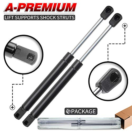 A-Premium Tailgate Rear Trunk Lift Supports Shock Struts for Chevrolet Impala Monte Carlo 2000-2005 With Spoiler 2-PC Set