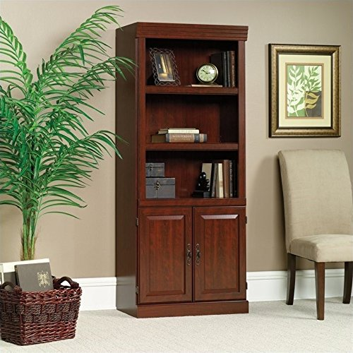 Sauder Heritage Hill Library With Doors, L: 29.80'' x W: 12.99'' x H: 71.26'', Classic Cherry finish by Sauder