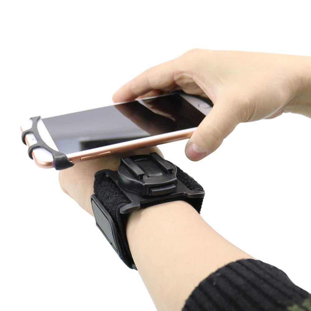 NACHEN Braccialetto Rotante Portatelefono Outdoor Attrezzature Sportive Equitazione Polso Telefoni Cellulari Staffa